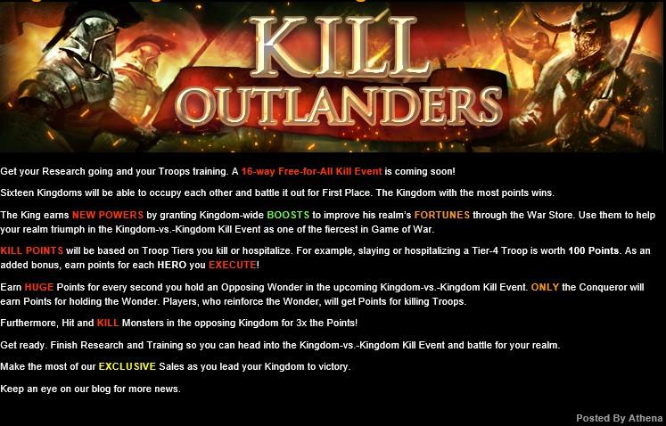 Kingdom-vs.-Kingdom Kill Event Coming Soon