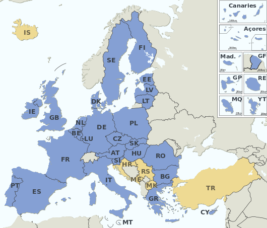 File:EU Member states and Candidate countries map.png