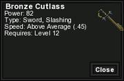 Bronze Cutlass