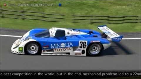 Toyota MINOLTA Toyota 88C-V Race Car '89
