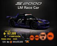 Honda S2000 LM Race Car (GT3)