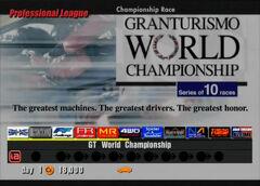 Gran Turismo World Championship (Professional)