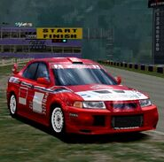 Mitsubishi Lancer Evolution VI Rally Car '99 (GT2)