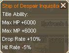 Ship of despair title