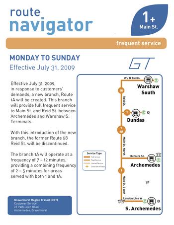 Route 1 Navigator