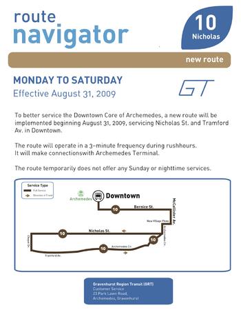 Route 10 Navigator