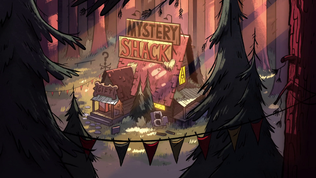 File:S1e1 mystery shack in the woods.png