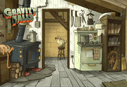 Postcard creator kitchen entrance