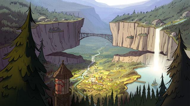 Gravity Falls map