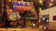 S2e16 mystery shack...vandalized