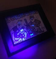 Cipher Hunt framed photograph blacklight
