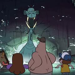 Живогрыз застревает на входе в пещеру.