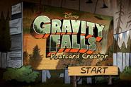 Game postcard creator start menu