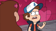 S1e9 Dipper looking sad while talking to Mabel