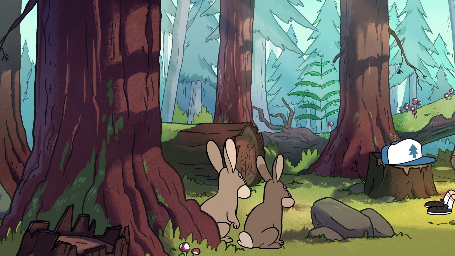 Image - S1e6 Rabbits In Forest.png