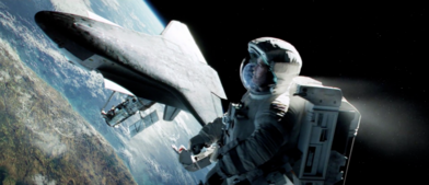 Gravity george clooney space spaceship
