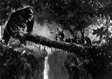 King Kong and the log