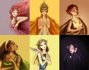 The six main goddesses