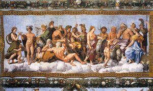 Zeus gifting the gods