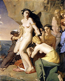 220px-1840 Chasseriau Theodore - Andromeda Chained to the Rock by the Nereids