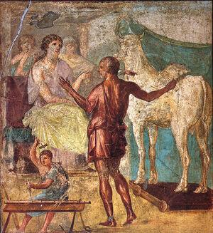 640px-Pompeii - Casa dei Vettii - Pasiphae