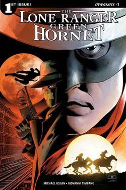 Lone Ranger-Green Hornet issue 1A