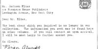 A typewritten letter from Miriam Atwright