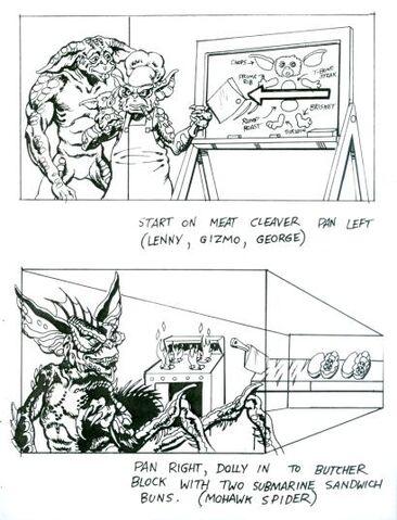 File:Gremlins 2 Storyboard Ideas 1.jpg