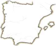 Map spain outline