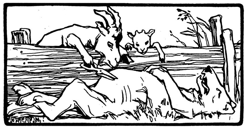 bild - wolf und die 7 geisslein otto ubbelohde | grimm
