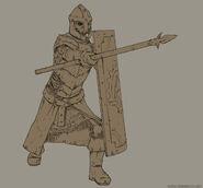 Legend of grimrock skeleton warrior sketch