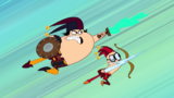 Kin and Kon fighting