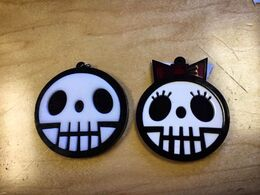Corey and Carrie skull necklaces