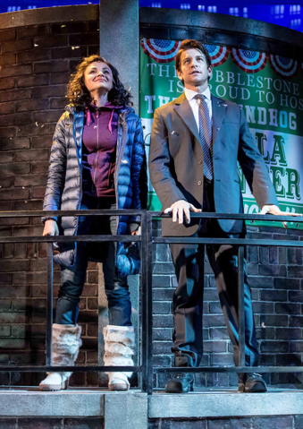 File:Andy Karl and Carlyss Peer as Phil and Rita looking over the town.png