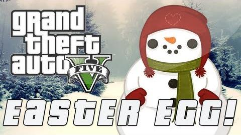 Gta V Giant Snowman Easter Egg