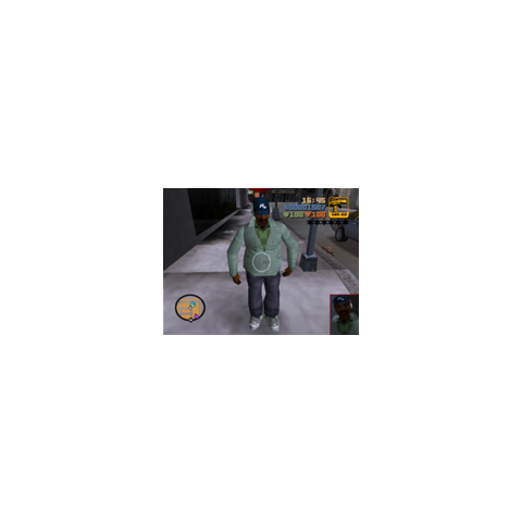 The pedestrian with the cap with Rockstar logo in GTA III.