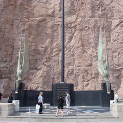 The memorial site at the real-life Hoover Dam