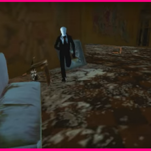 The Slenderman in the Mansion.