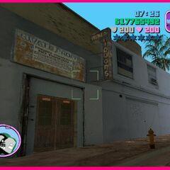A closed and torn liquor shop.