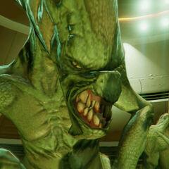 Alien abduction in GTA V.