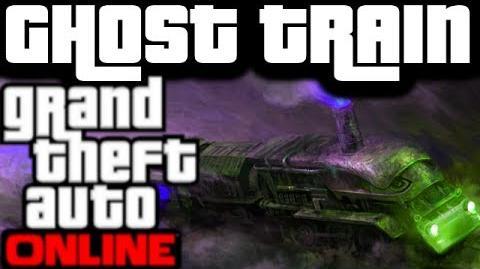 GTA V Online Odd Bugs & Silly Glitches GHOST TRAIN