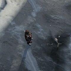Frozen Alien in GTA V.