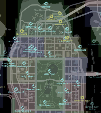 CollectiblesMap-GTAIV-AlgonquinNorth