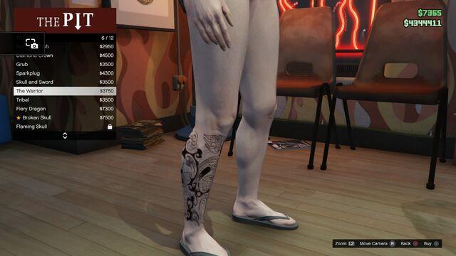 File:Tattoo GTAV-Online Female Right Leg The Warrior.jpg