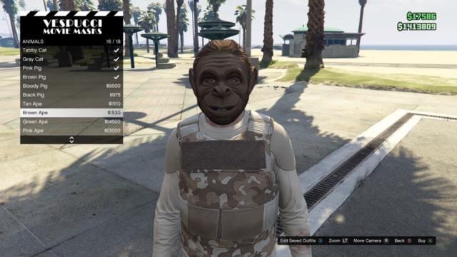 File:GTAO-Animal-Brown Ape Mask.png