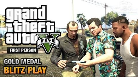 GTA 5 - Mission 39 - Blitz Play First Person Gold Medal Guide - PS4