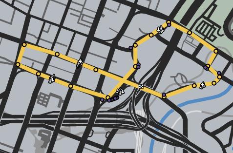 Muscle In GTAOe Race Map