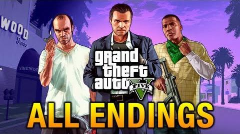 GTA 5 - All Endings Final Missions