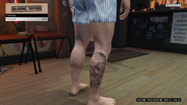 File:Tattoo Michael Right Leg GTAV Tiki Pinup.jpg