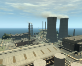 Acter Nuclear Power Plant GTAIV from north